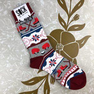 Sock It To Me Red Fair Isle Hockey Sweater Socks
